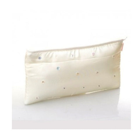 Opal Sequin Cosmetic Bag - White sequins