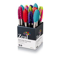 CKS Zeal Silicone Tongs (25 cm) - Various Colours