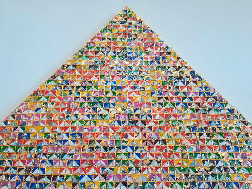 World Automatic rainbow pyramid  /Combined pyramid gold grid