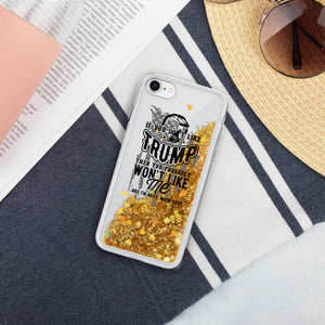 President Donald Trump 2020 Liquid Glitter Phone Case