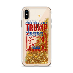 President Donald Trump Liquid Glitter iPhone Case