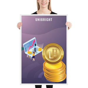 Unibright Cryptocurrency Framed poster