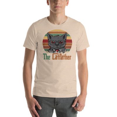 The cat Father funny mens cat shirts