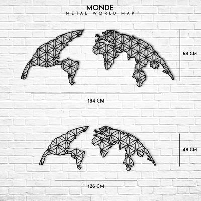 Monde - Metal World Map