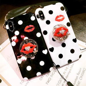 Rhinestone Gem Lips Phone Cover