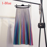 High-Waist Fully Pleated Skirt