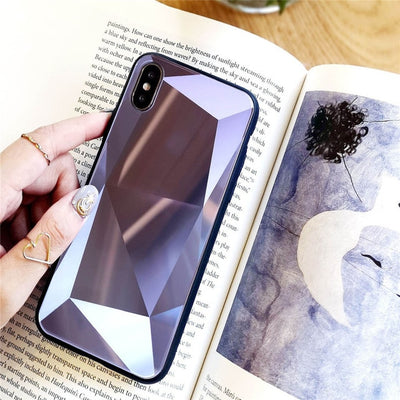 The New 3D Diamond iPhone Reflective Laser Glass Case