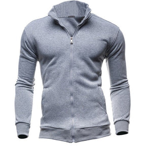 Autumn Winter Leisure Sports Cardigan Zipper Top