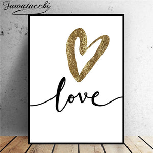 Love Modern Abstract Picture Prints