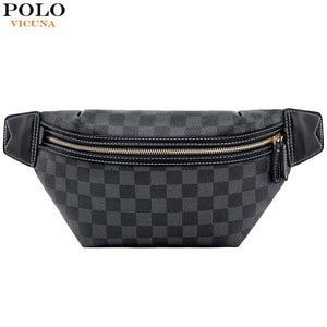 Men's Waist Pack Classic Plaid Design