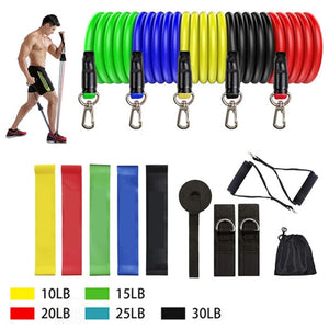 Resistance Exercise Bands with Door Anchor for Home Workout