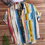Multi Color Short Sleeve Casual Shirt