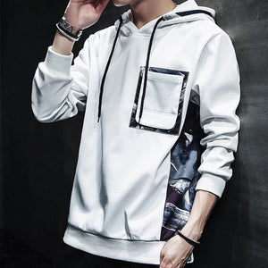 Long-sleeved Slim Fit Male hoodie