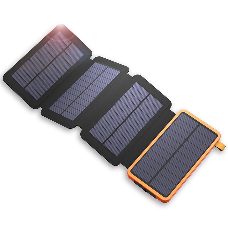 8000mAh Solar power bank Foldable Solar Charger External Backup Battery Charger Mobile phone Tablet For iPhone Samsung powerbank