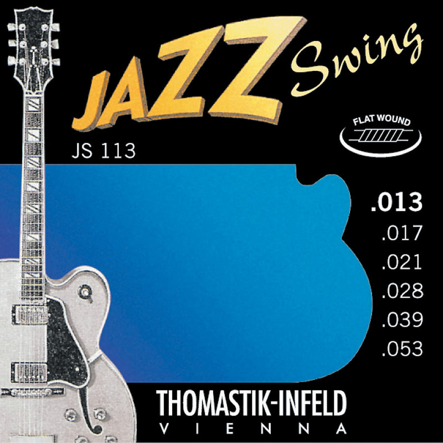 Thomastik Jazz Swing Guitar strings Flat wound nickel .013 to .053 - T-JS113