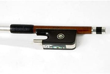 Pernambuco Viola bow, fully mounted with ebony frog - Branded