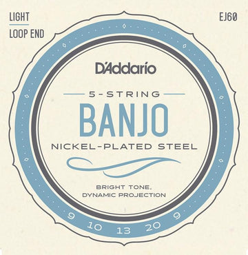 Banjo String Set - D'Addario Nickel Wound Banjo Strings - J-60