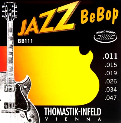 Thomastik Jazz BeBop Series Guitar Set, nickel round wound .011-.047 - T-BB111