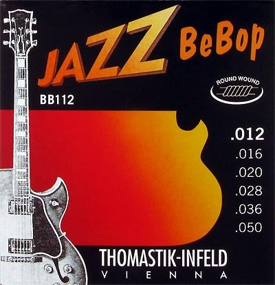 Thomastik Jazz BeBop Roundwound Guitar Strings .012 to .050 - T-BB112
