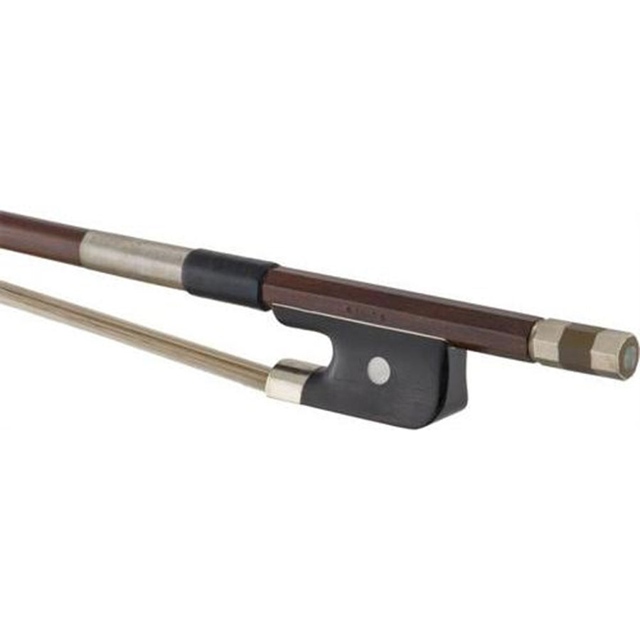 Brazilwood Bass Bow with Ebony French Frog