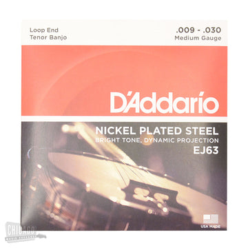 Banjo String Set - D'addario Tenor Banjo set in nickel - J-63