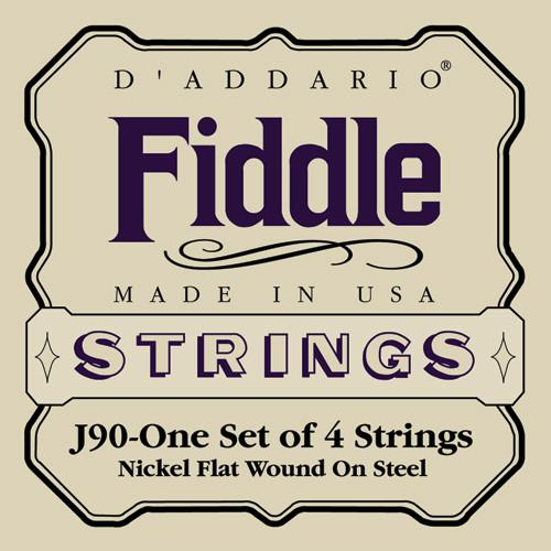 Chrome Steel Fiddle String Set - J-90