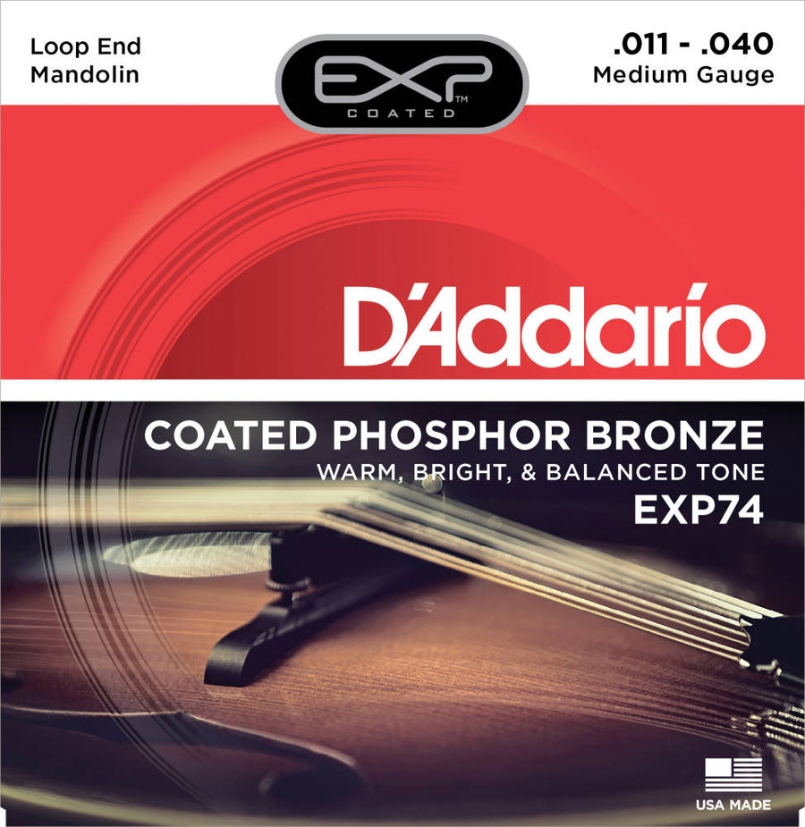 Mandolin String Set - D'addario Coated Mandolin String Set - EXP-74