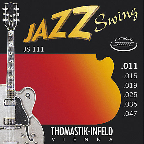 Thomastik Jazz Swing Guitar strings Flat wound nickel Lite .011-.047 - T-JS111
