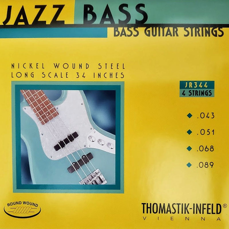 Thomastik-Infeld Jazz Rounds Pure Nickel Bass String Set Long Scale, .043 - .098. - T-JR344