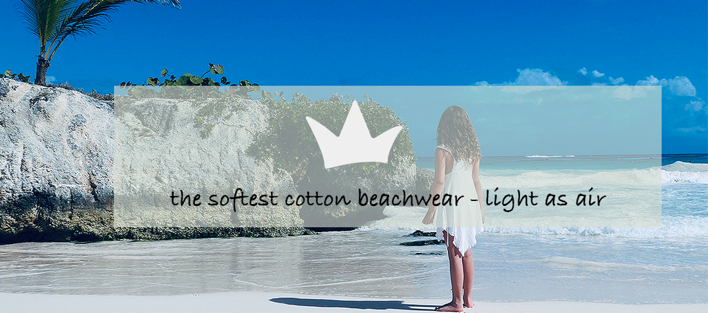 the softest beachwear for kids, Peruvian cotton, light as air