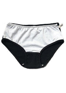 black and white cotton underwear