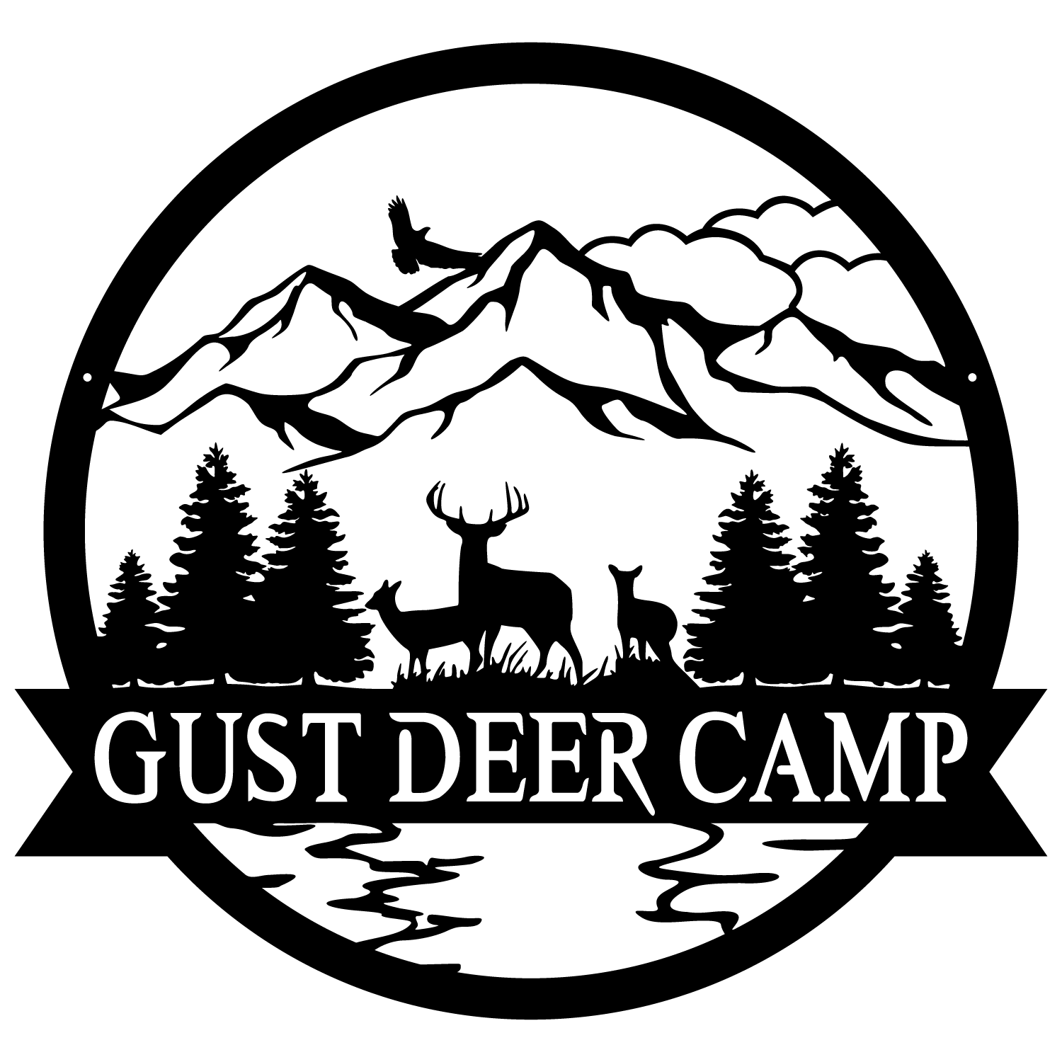 DEER OUTDOOR MONOGRAM