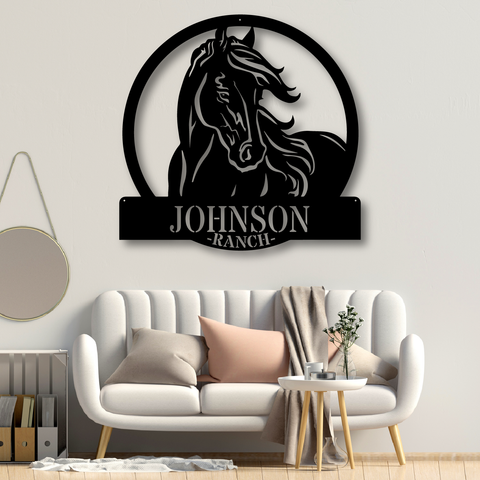 Personalized Horse Ranch Sign