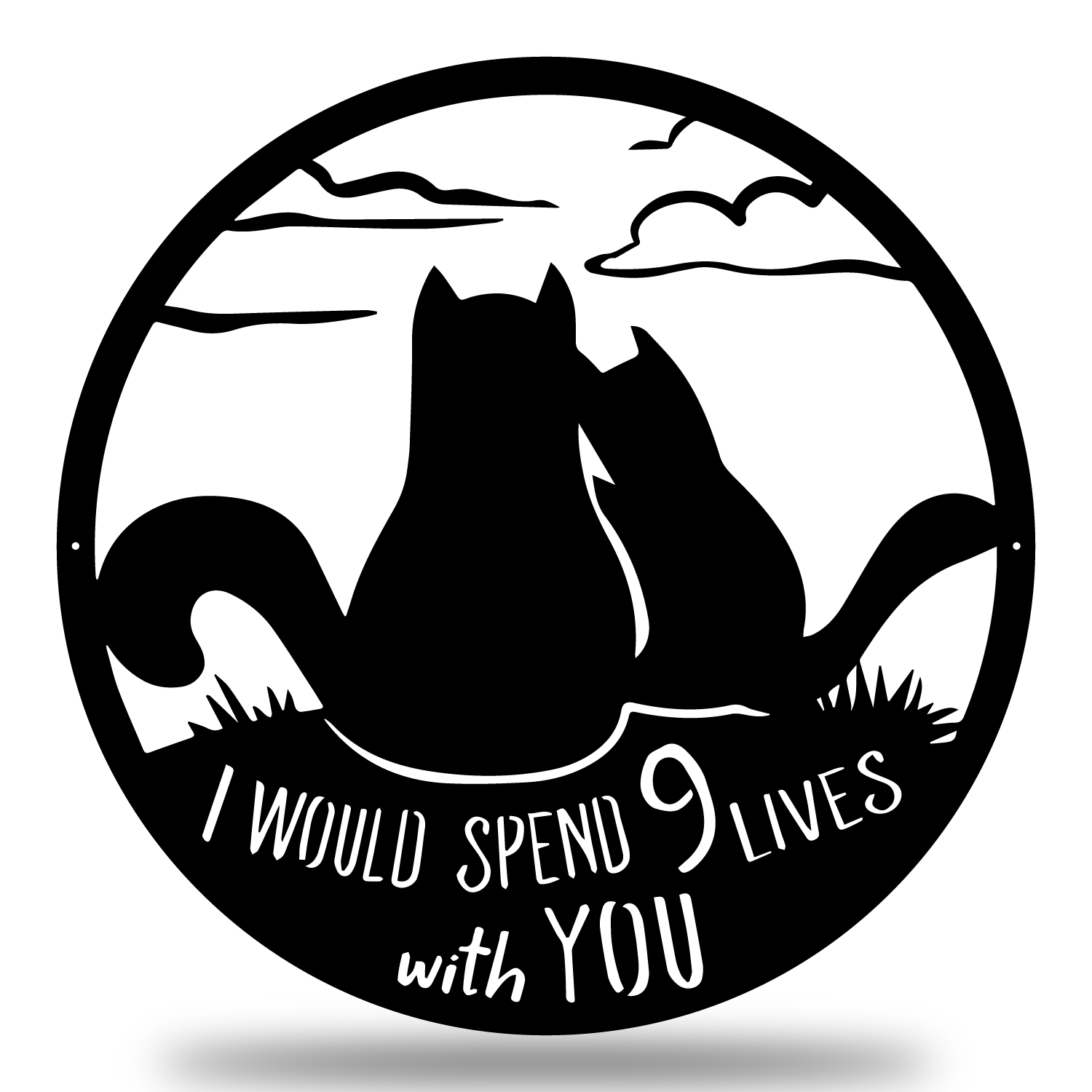 9 Lives Together Wall Art