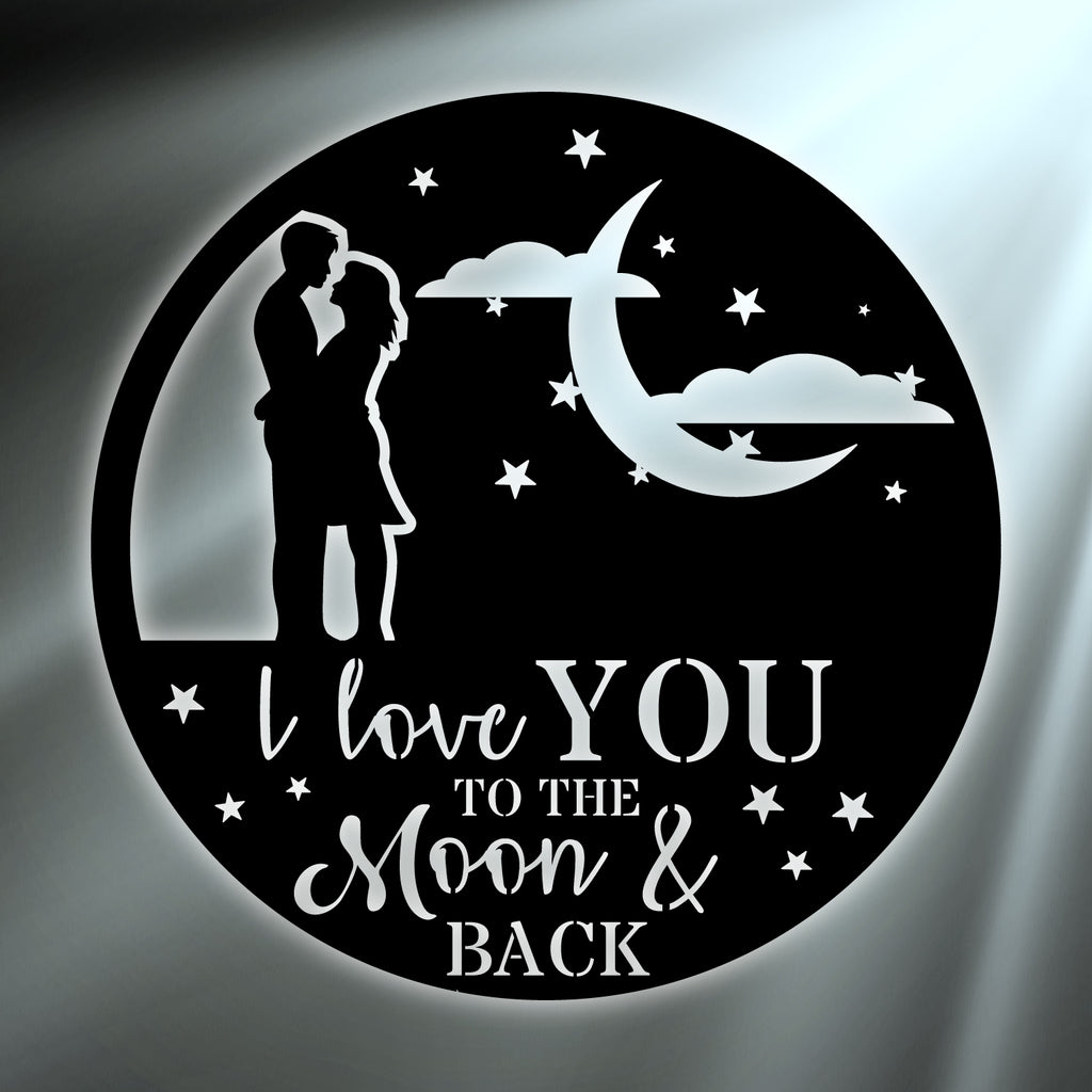 Couple Moon & Back