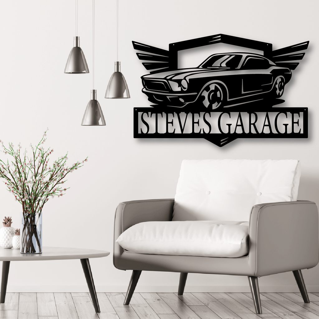 Muscle Car Monogram