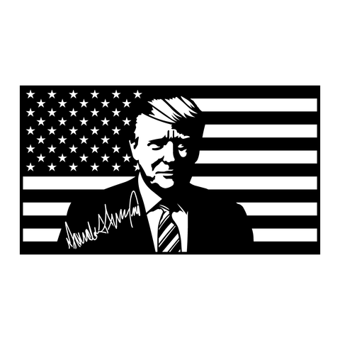 Signature Trump Flag