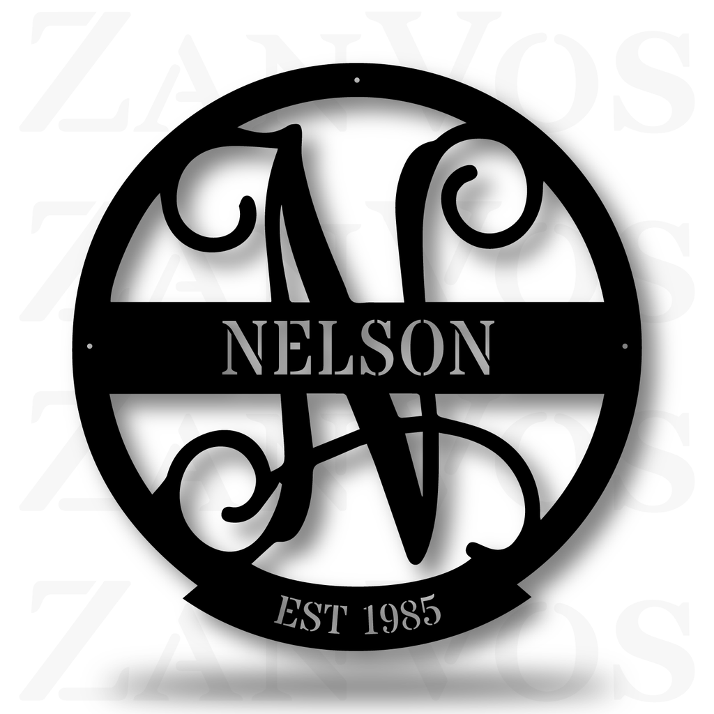 Family Name Monogram