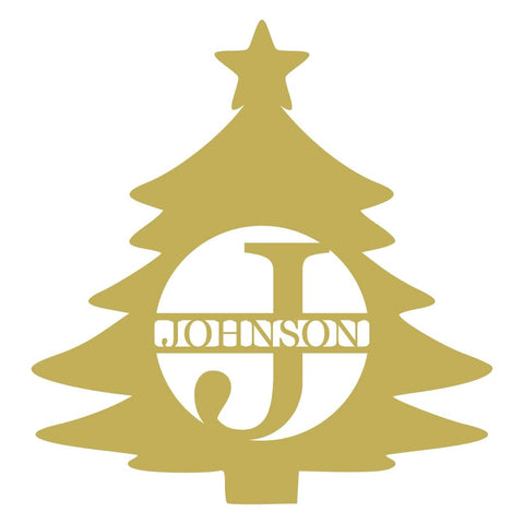 Initial Christmas Tree Monogram