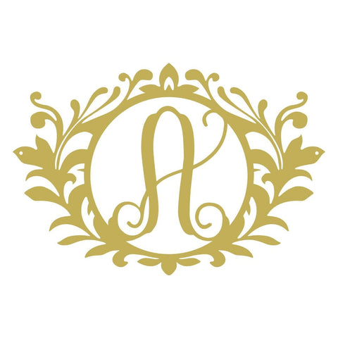 Wreath Monogram Initial