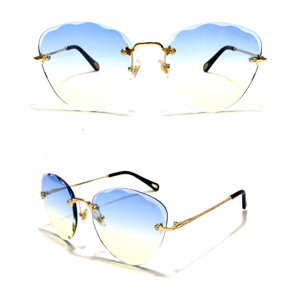 شانيل - Cateye Women Sunglasses - Blue