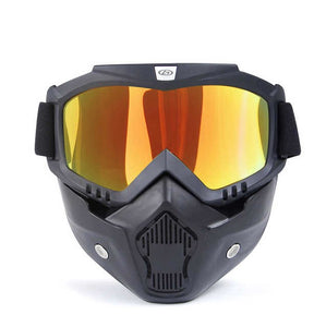 Motorcycle Face Mask - Orange Mirror