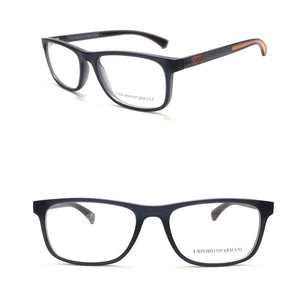 ارمانى - Black in Red Rectangle Eyeglasses