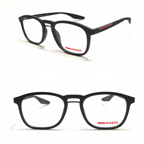برادا Black Oval frame Eyeglasses For Unisex