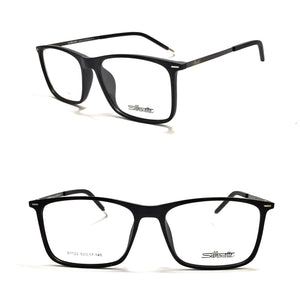 سيلوت Rectangle Black Frame Eyeglasses For Unisex