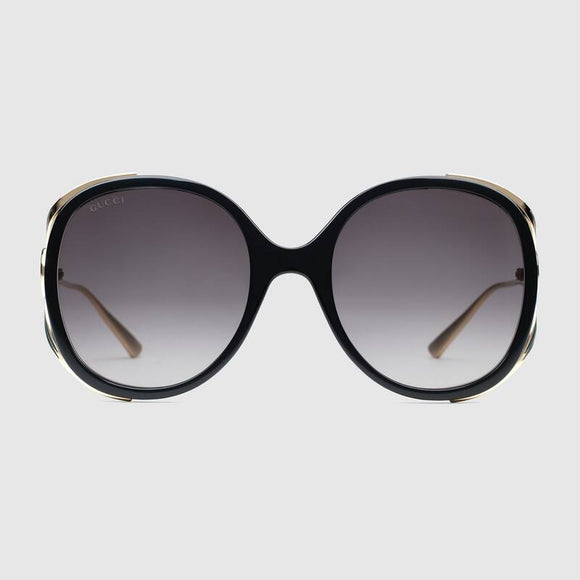 جوتشي GG0226s oval-frame sunglasses