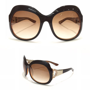 كارتيه - Brown Circle Women Sunglasses 542
