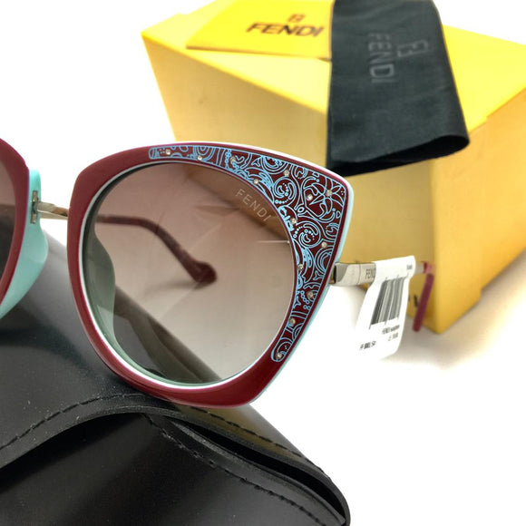فندي rounded frame sunglasses