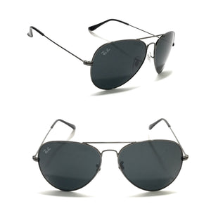 ريبان - Aviator Dark Grey Sunglasses RB3025