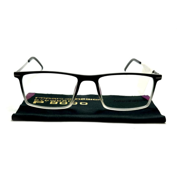 بورش ديزاين - Rectangle lanse frame men eyeglasses PO7012#